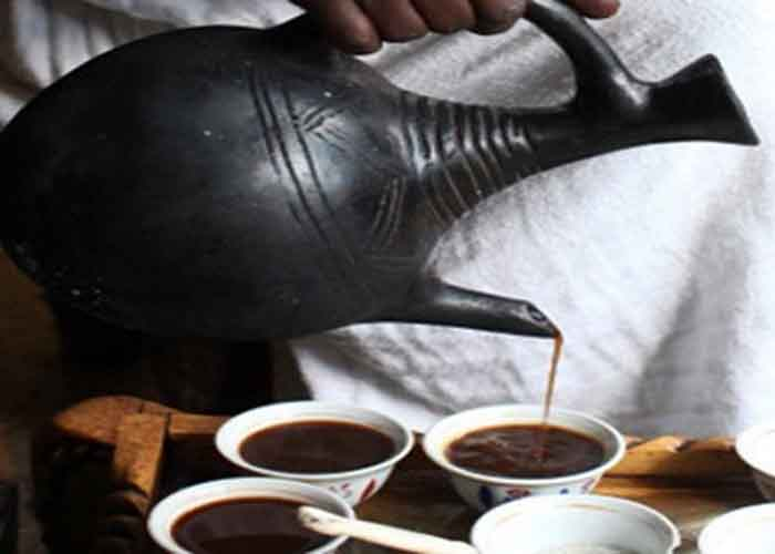 Ethiopian coffee ceremony. ቡና በጀበና እና በስኒ