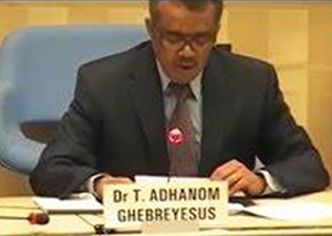 WHO Director General Candidate Dr Tedros Adhanom.