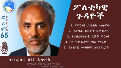 Prof Beyene Petros on Forum 65
