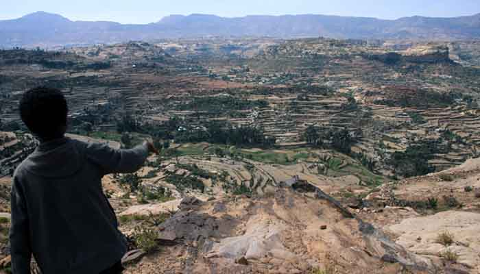 The rugged landscape of northern Ethiopia's Tigray region.