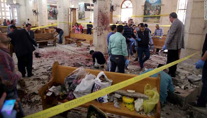 Church bombing in Tanta, Egypt