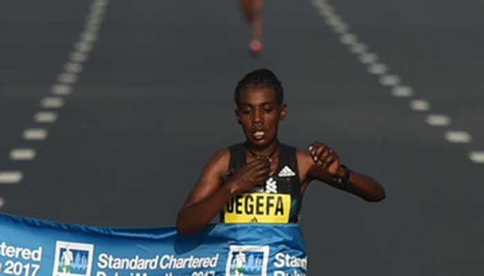 Worknesh Degefa's Marathon Debut