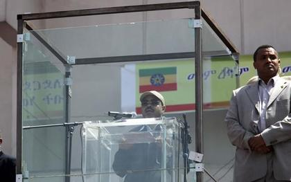 PM Meles Zenawi in a cage