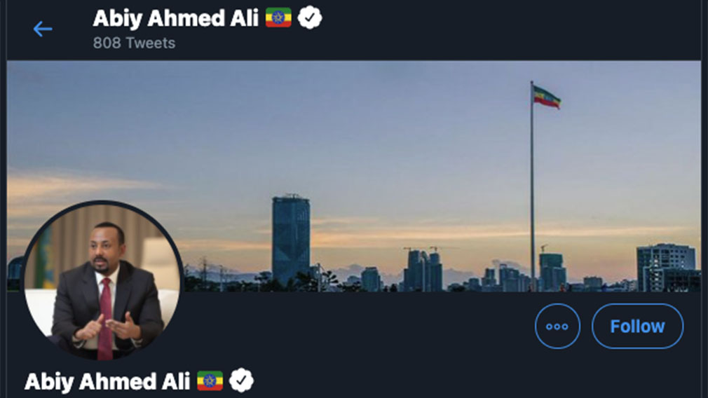 PM Abiy Ahmed's Twitter page