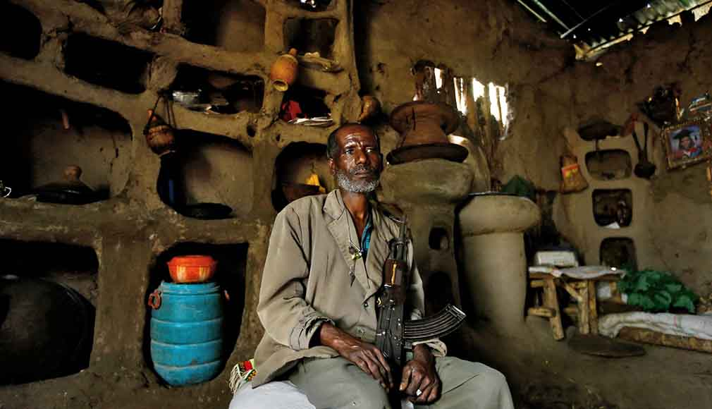 Takele Alene in his home in Fendika, Ethiopia.
