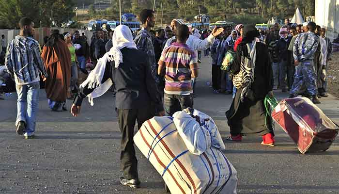 Ethiopians expelled from Saudi Arabia in 2013