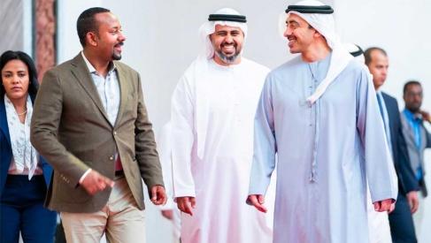 PM Abiy ahmed and Sheikh Abdullah Bin Zayed Al Nahyan